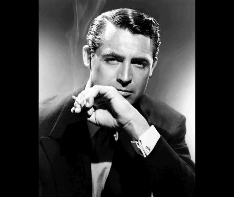 Cary Grant atractivo y moda