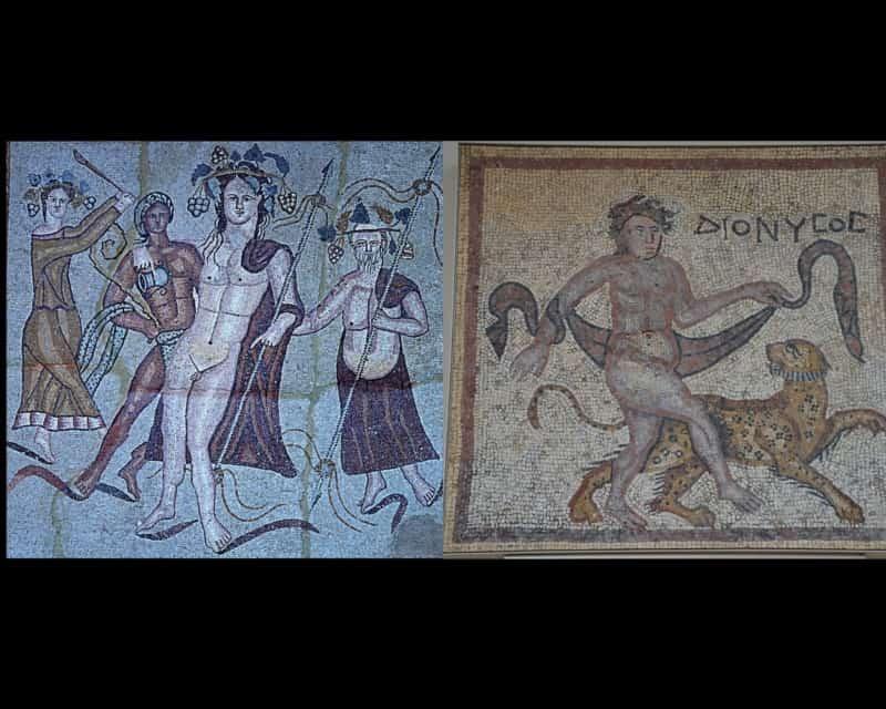 Pintura y mosaico Dionisíaco