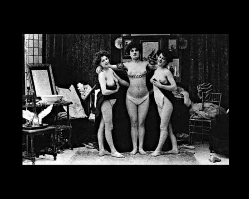 Sexo, prostitutas, y burdeles: Tres prostitutas del viejo oeste fotografiadas